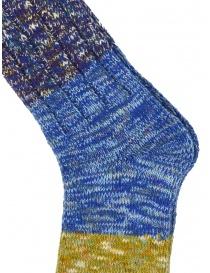 Kapital Van Gogh socks melange blue, purple, green