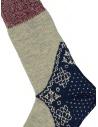 Kapital bandana patterned socks in blue, grey, red shop online socks