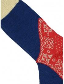Kapital blue red and white patterned socks