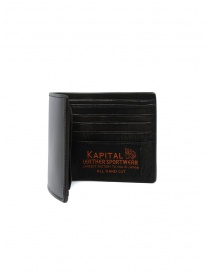 Kapital wallet in black leather with two stars