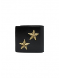 Kapital wallet in black leather with two stars wallets buy online