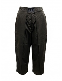 Womens trousers online: Kapital Easy Beach dark grey pants with velcro band
