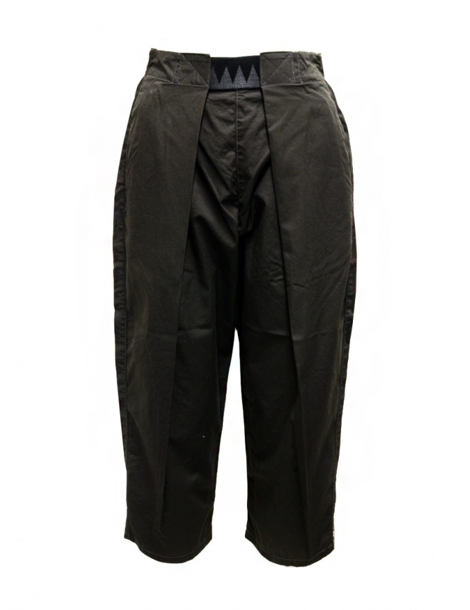 Kapital Easy Beach dark grey pants with velcro band UNISEX EK-905 DARKGRAY womens trousers online shopping