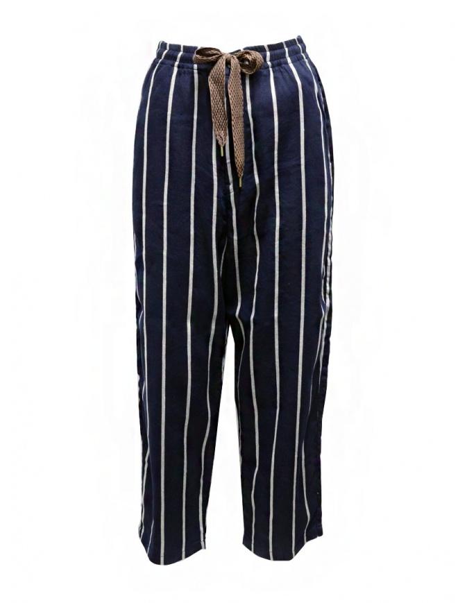 Kapital Phillies stripe Easy navy blue pants EK-1049 NAVY womens trousers online shopping