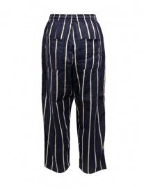 Kapital Phillies stripe Easy navy blue pants