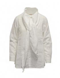Camicie donna online: Kapital camicia bianca con fiocco al collo