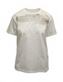 T shirt donna online: Kapital Opal Tenjiku t-shirt bianca con pannocchia a rete