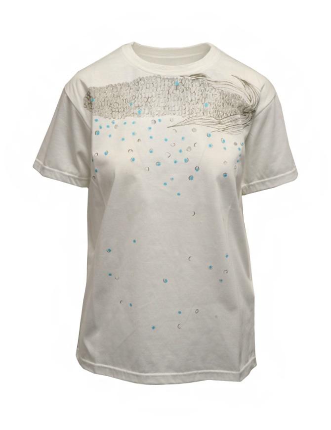 Kapital Opal Tenjiku white t-shirt with mesh cob K2103SC063 WHITE womens t shirts online shopping