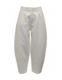 Womens trousers online: Sara Lanzi women's white pants