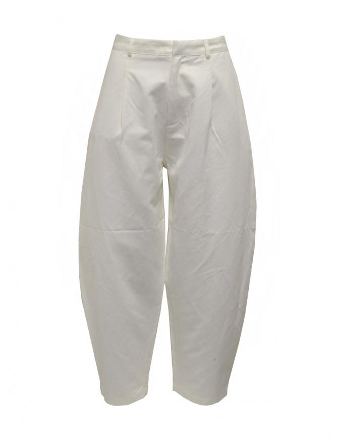Sara Lanzi women's white pants 02A.CL1.01 MILK womens trousers online shopping