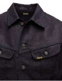 Kapital dark blue trucker jacket with sahisko stitching price