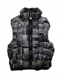 Kapital reversible padded vest in black Keel nylon online
