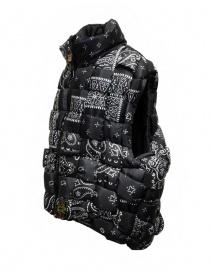 Kapital reversible padded vest in black Keel nylon
