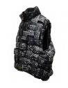 Kapital reversible padded vest in black Keel nylon shop online mens jackets