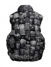 Kapital reversible padded vest in black Keel nylon price
