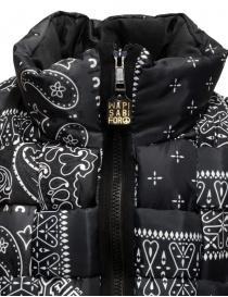 Kapital reversible padded vest in black Keel nylon mens jackets buy online