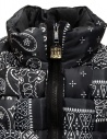 Kapital reversible padded vest in black Keel nylon EK-1001 BLK buy online
