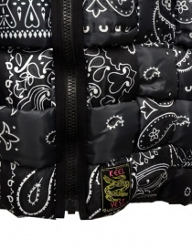 Kapital reversible padded vest in black Keel nylon mens jackets price