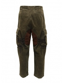 Kapital pantaloni cargo Wallaby in velluto a coste verdi