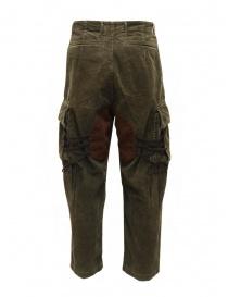 Kapital Wallaby cargo pants in green corduroy