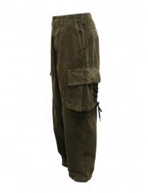 Kapital Wallaby cargo pants in green corduroy price