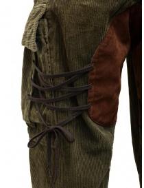 Kapital Wallaby cargo pants in green corduroy mens trousers buy online