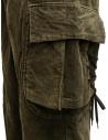 Kapital Wallaby cargo pants in green corduroy price K2011LP126 GR-KH shop online