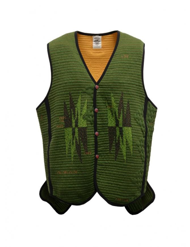Kapital Hyper Chimayo Best 3D khaki green vest K2009SJ026 KHA mens cardigans online shopping