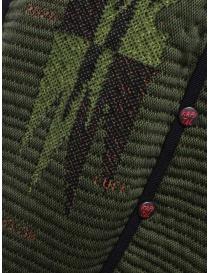 Kapital Hyper Chimayo Best 3D khaki green vest mens cardigans buy online