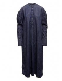 Kapital long Henry dress in dark blue denim online