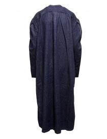 Kapital long Henry dress in dark blue denim