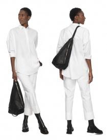 Guidi BV08 single-shoulder backpack in black leather buy online price