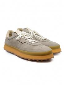 Shoto 1209 scarpa stringata in camoscio color tortora online