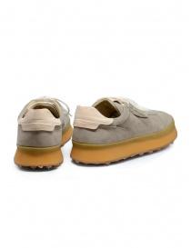 Shoto 1209 scarpa stringata in camoscio color tortora