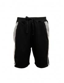 Pantaloni uomo online: Whiteboards bermuda neri con banda laterale in pluriball