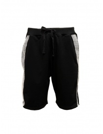 Whiteboards black bermuda shorts with bubble wrap side band online