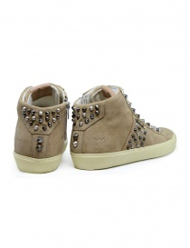 Leather Crown Studborn high studded sneakers in beige suede price
