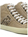 Leather Crown Studborn high studded sneakers in beige suede WLC167 20151 buy online