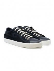 Leather Crown Pure dark blue suede sneakers online