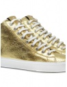 Leather Crown Earth golden high sneakers in leather WLC133 20121 buy online