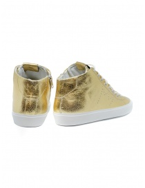 Leather Crown Earth golden high sneakers in leather price