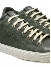 Leather Crown Pure dark military green sneakers mens shoes buy online