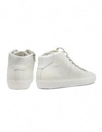Leather Crown Earth sneakers alte in pelle bianca prezzo