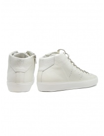 Leather Crown Earth white leather high sneakers price