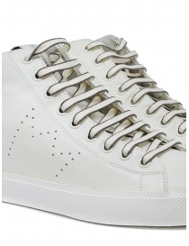 Leather Crown Earth sneakers alte in pelle bianca calzature uomo acquista online