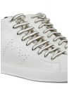 Leather Crown Earth sneakers alte in pelle bianca MLC133 20114 acquista online