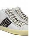 Leather Crown Studborn black and white high top sneakers with studs WLC167 20126 buy online