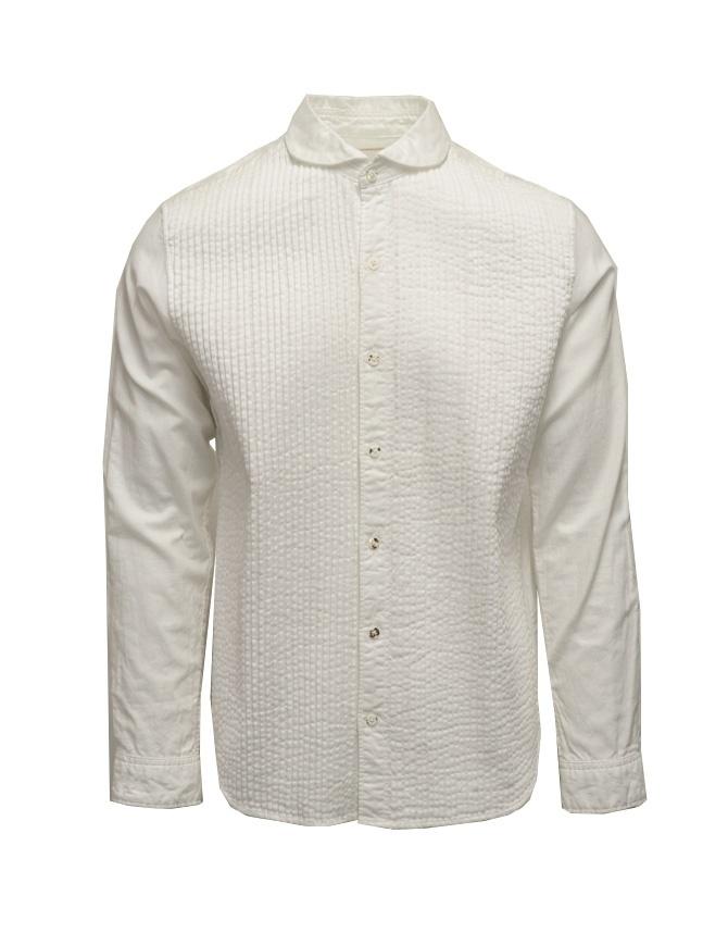 Kapital white plissé shirt EK-274 WHITE mens shirts online shopping
