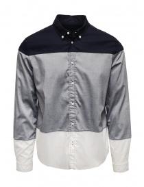 Mens shirts online: 08Sircus blue grey white shirt