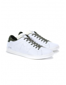 Leather Crown sneakers MLC06-602 bianche e khaki online